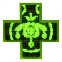 Einfarbiges grünes elektronisches Apothekenkreuz Led 3D 106cm x 106cm